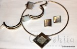 Silver set of four parts with Mother of pearl