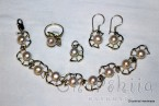 Silver set of four parts with Pearl